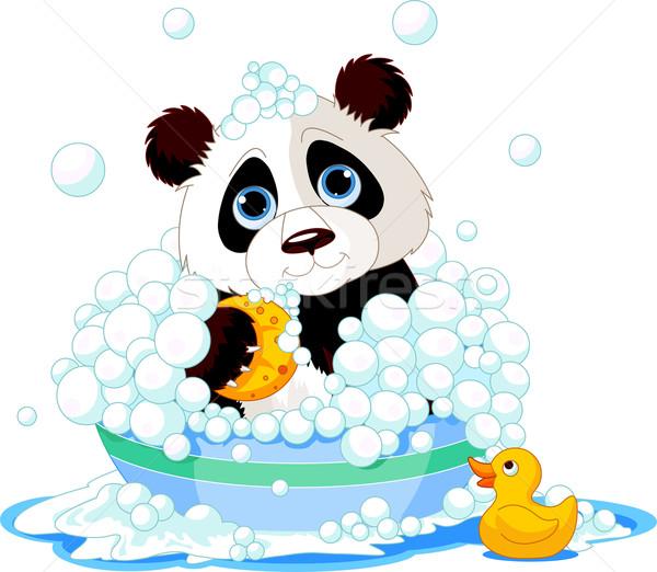 Panda having a bath Stock photo © Dazdraperma