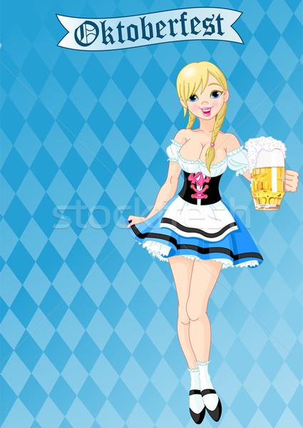 Oktoberfest girl Stock photo © Dazdraperma