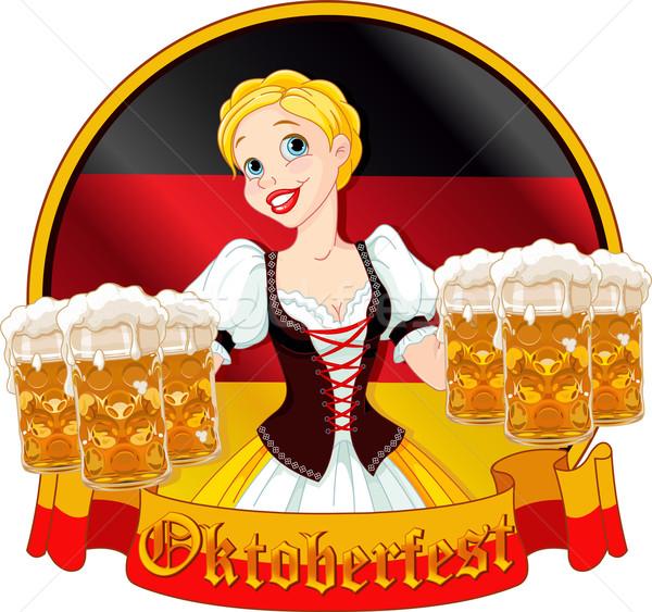 Oktoberfest girl design Stock photo © Dazdraperma