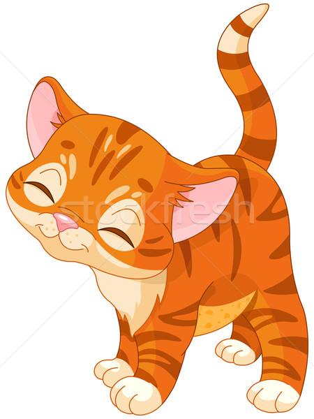 Vermelho gatinho ilustração bonitinho bebê gato Foto stock © Dazdraperma
