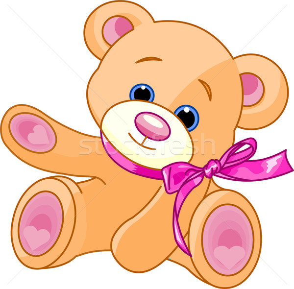 Teddy Bear showing Stock photo © Dazdraperma