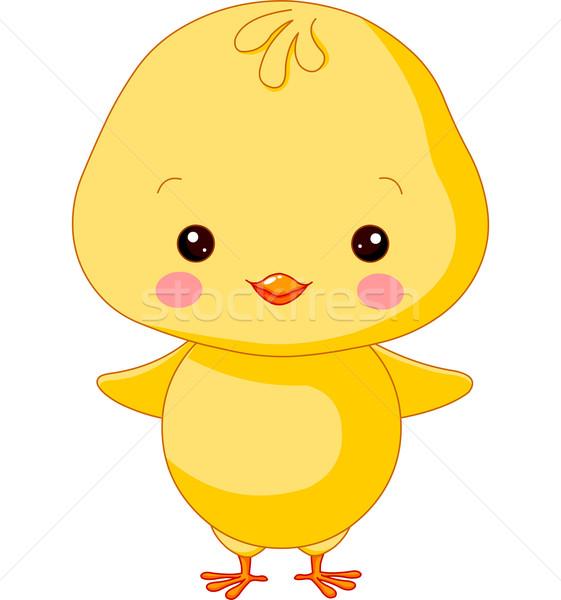 Boerderijdieren chick illustratie cute Pasen baby Stockfoto © Dazdraperma