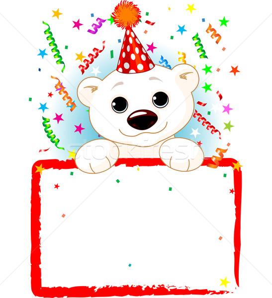 Orso polare taxi compleanno adorabile indossare party Foto d'archivio © Dazdraperma
