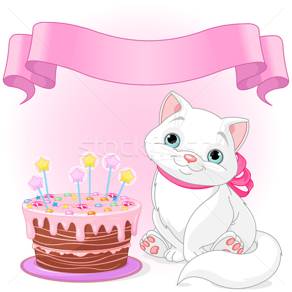 Cat Birthday Celebrating  Stock photo © Dazdraperma