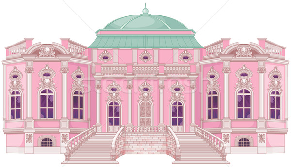 романтические дворец Принцесса Cute здании домой Сток-фото © Dazdraperma