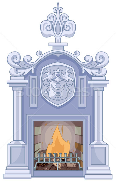 Medieval Fireplace Stock photo © Dazdraperma
