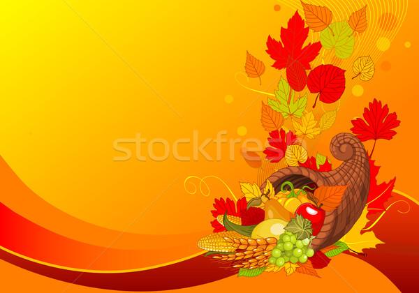 Cuerno acción de gracias cuerno de la abundancia completo cosecha frutas Foto stock © Dazdraperma