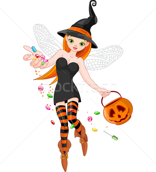 Trick or treating witch  Stock photo © Dazdraperma
