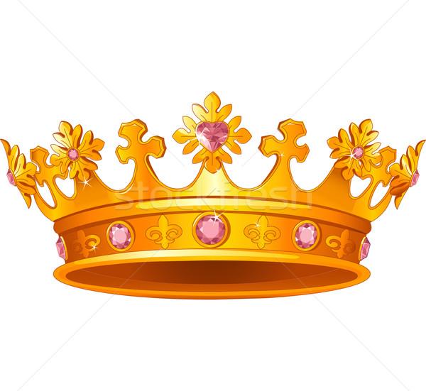 Koninklijk kroon mooie goud diamant antieke Stockfoto © Dazdraperma