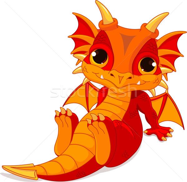 Cute baby dragon Stock photo © Dazdraperma