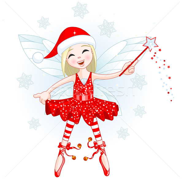 Stockfoto: Christmas · fairy · illustratie · mooie · vlinder