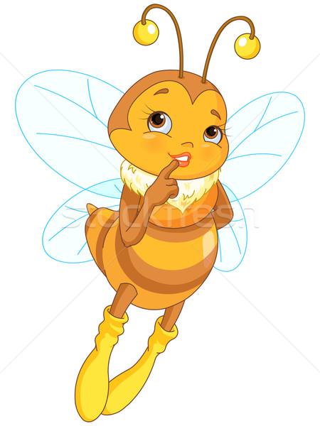 Vrouwelijkheid bee illustratie cute gelukkig vliegen Stockfoto © Dazdraperma