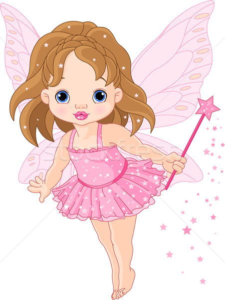 Cute pequeño bebé hadas ilustración volar Foto stock © Dazdraperma