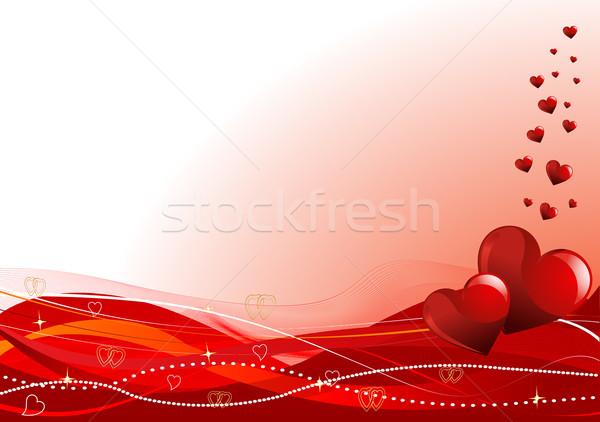 Valentijnsdag vector horizontaal harten sterren schoonheid Stockfoto © Dazdraperma