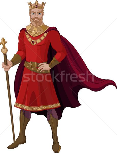 Fantasy King in Red Stock photo © Dazdraperma