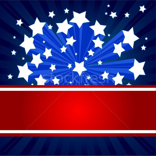 American starburst background Stock photo © Dazdraperma