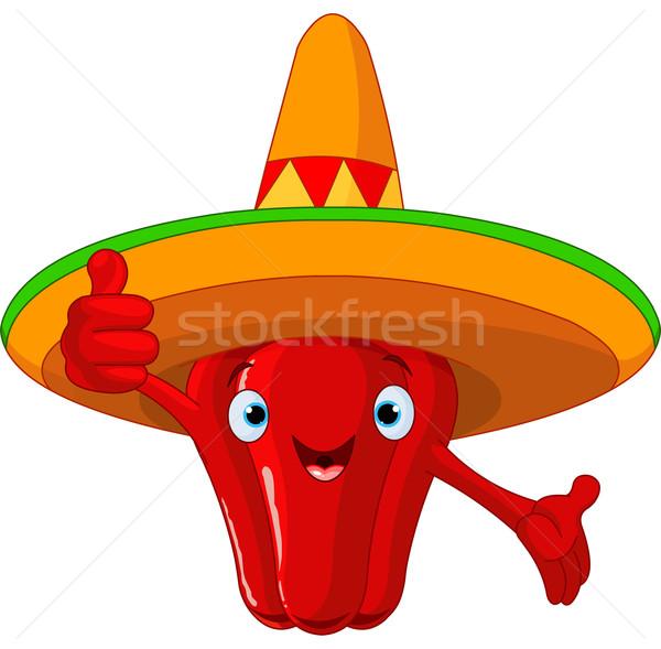 Red Hot Chili Pepper Character Stock photo © Dazdraperma