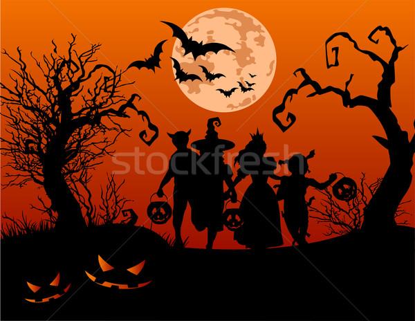 Halloween children  Stock photo © Dazdraperma