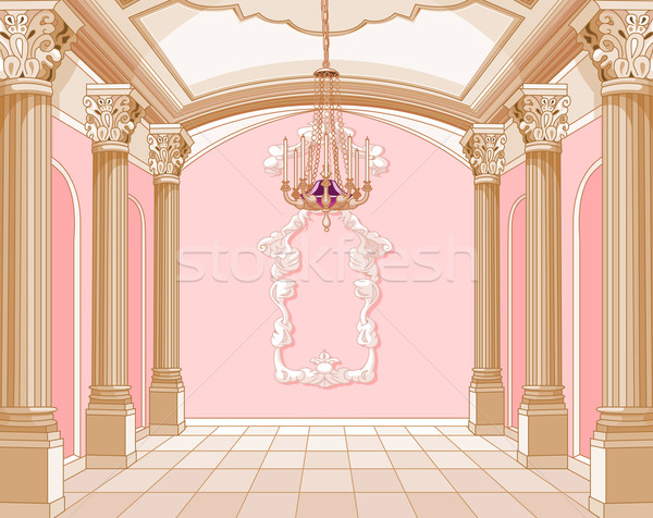 Sala balowa magic zamek wnętrza sztuki kolor Zdjęcia stock © Dazdraperma