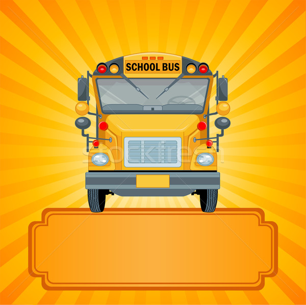Yellow school bus Stock photo © Dazdraperma