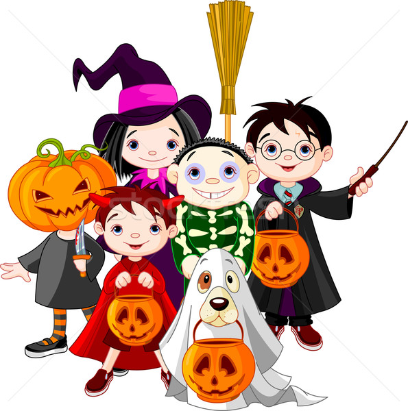 Halloween trick or treating children  Stock photo © Dazdraperma