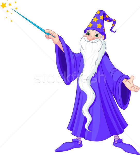 Cartoon wizard Stock photo © Dazdraperma