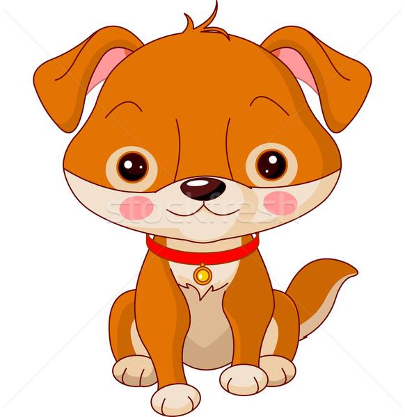 Boerderijdieren hond illustratie cute gelukkig veiligheid Stockfoto © Dazdraperma