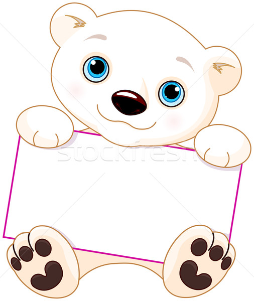 Polar bear sign Stock photo © Dazdraperma