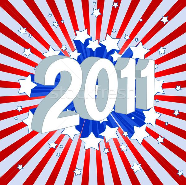 Stock fotó: Boldog · új · évet · 2011 · összes · elemek · réteges · külön
