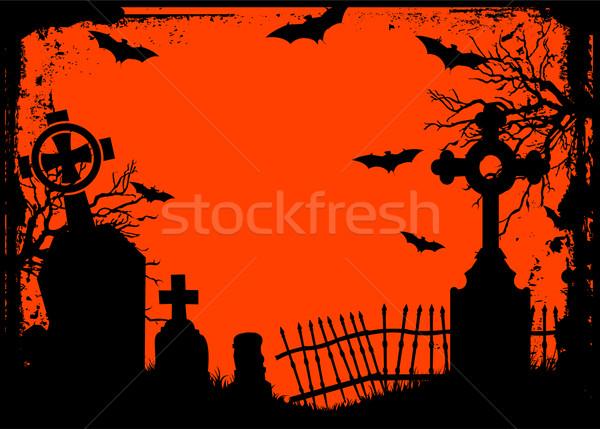 Halloween cemetery Stock photo © Dazdraperma