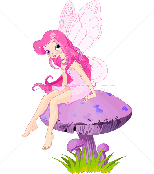 Fairy on the Mushroom  Stock photo © Dazdraperma