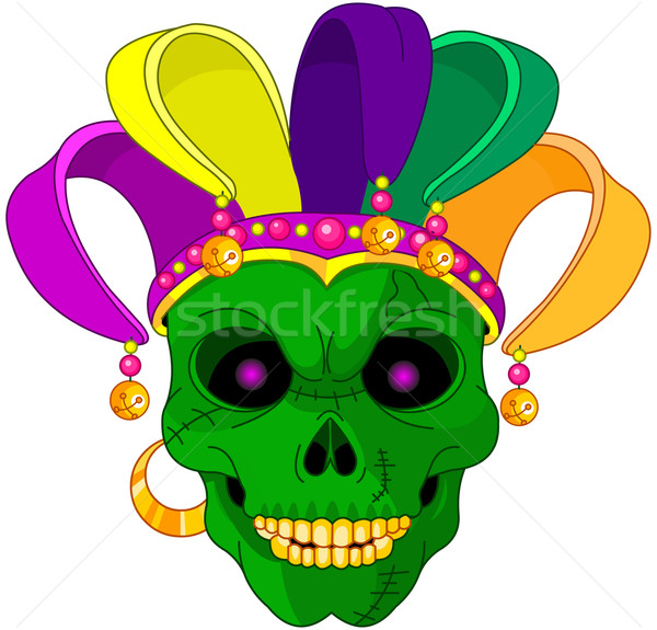 Mardi Gras skull Stock photo © Dazdraperma