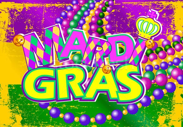 Mardi Gras flag Stock photo © Dazdraperma
