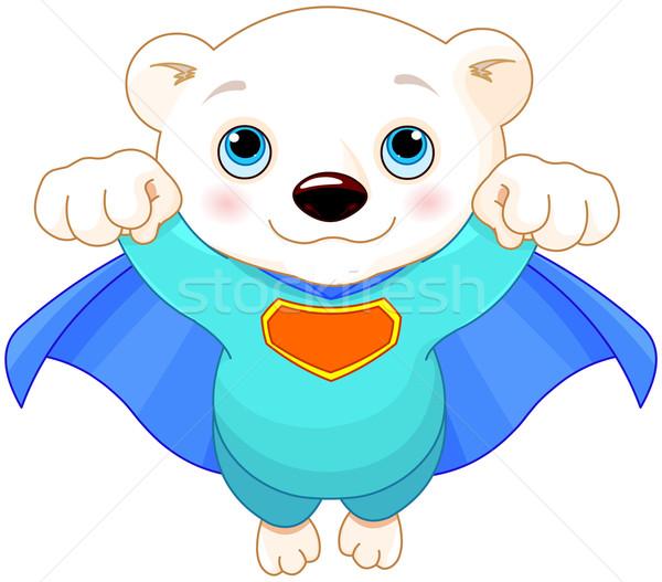 Super urso polar ilustração bebê arte Foto stock © Dazdraperma