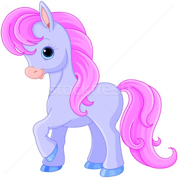 Fairytale pony Stock photo © Dazdraperma