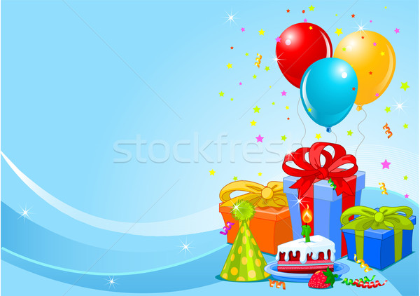 Birthday party background Stock photo © Dazdraperma