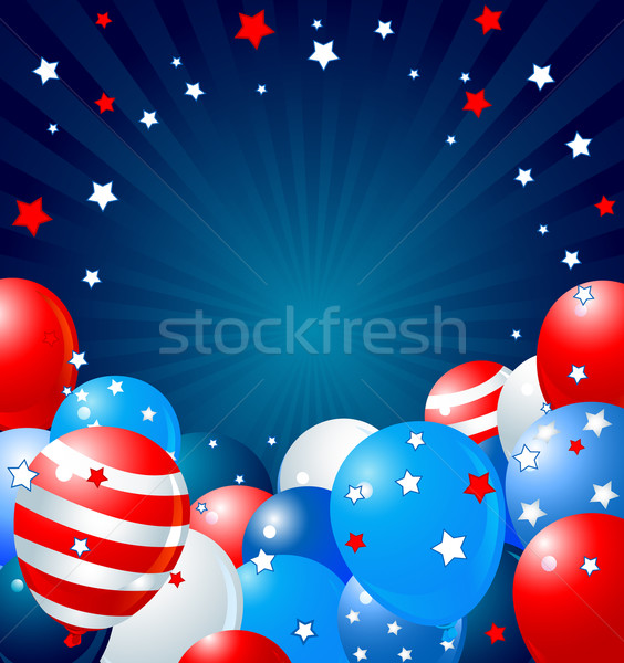Patriotic balloons border Stock photo © Dazdraperma