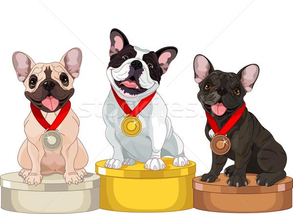 Winners of Dog competition  Stock photo © Dazdraperma