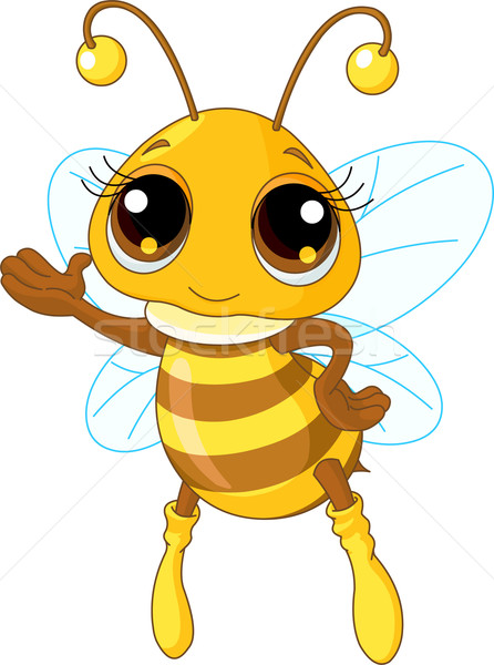 Cute abeille illustration accueillant battant Photo stock © Dazdraperma