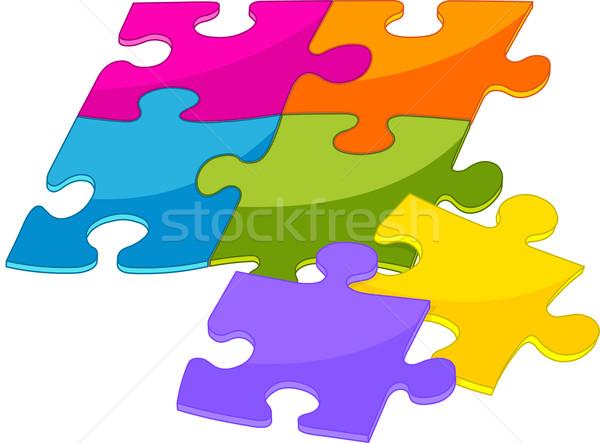 Colorful puzzle pieces Stock photo © Dazdraperma