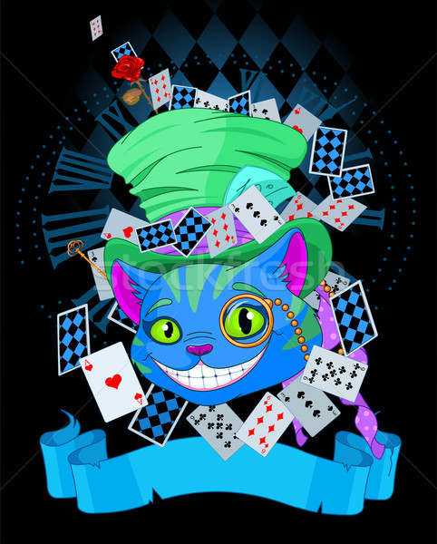 Cheshire Cat in Top Hat design Stock photo © Dazdraperma