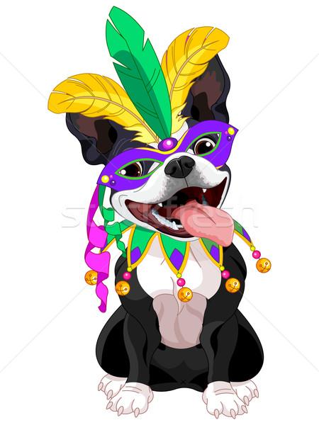 Boston terrier ilustración perro máscara Foto stock © Dazdraperma