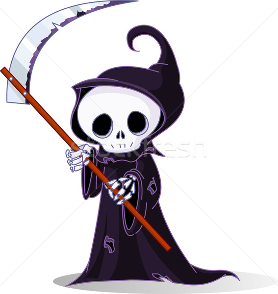 Cartoon grim reaper   Stock photo © Dazdraperma