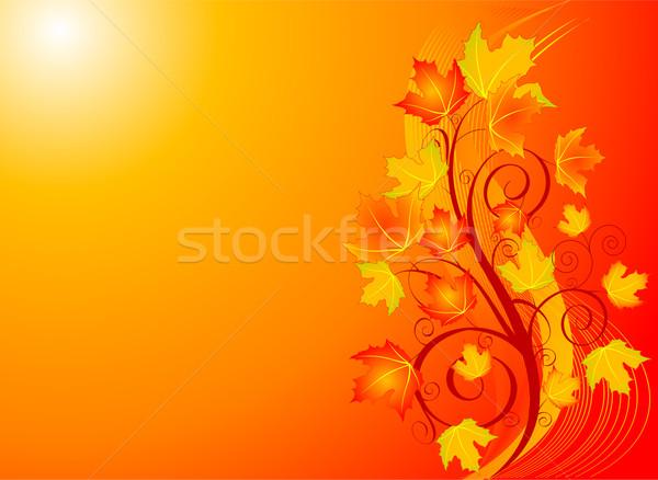 осень Swirl декоративный дизайна Сток-фото © Dazdraperma