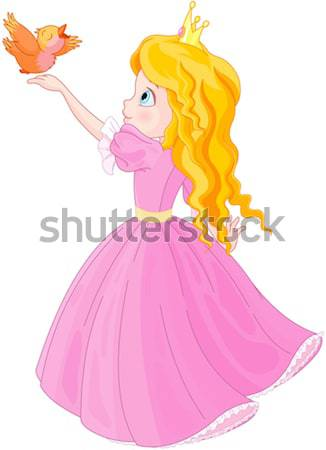Prinses lippenstift illustratie sprookje mode schoonheid Stockfoto © Dazdraperma