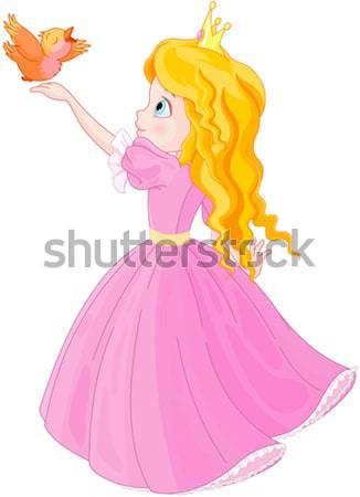 Принцесса помада иллюстрация моде красоту Сток-фото © Dazdraperma