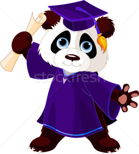 Panda Graduates  Stock photo © Dazdraperma