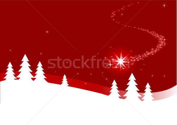 Christmas background  with shutting star Stock photo © Dazdraperma