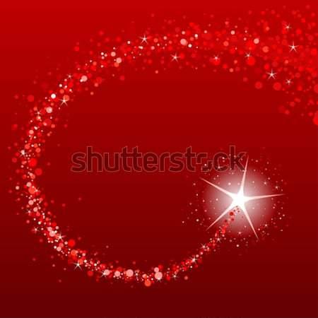Shooting stars Christmas frame Stock photo © Dazdraperma