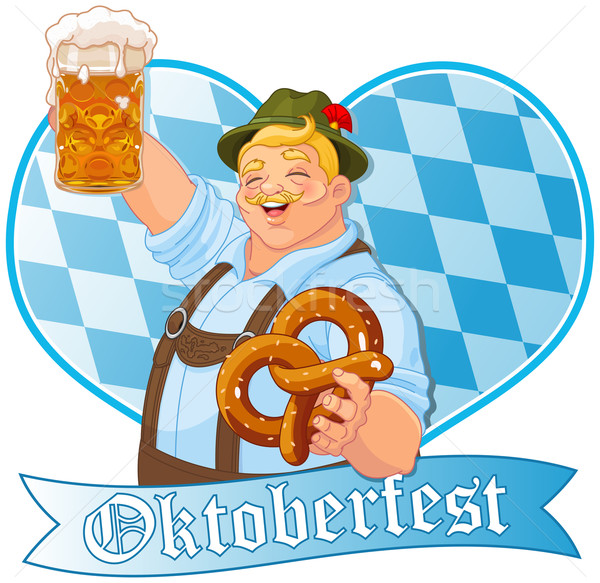 Oktoberfest Guy  Stock photo © Dazdraperma